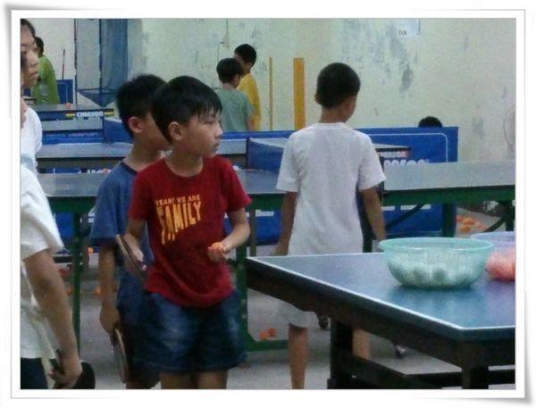 復興國小桌球隊暑假育樂營第二週