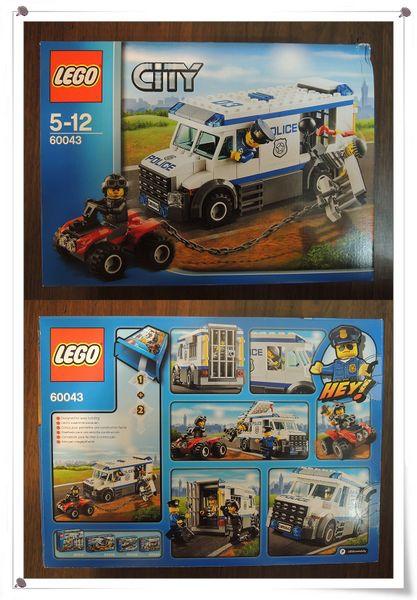 LEGO樂高CITY城市系列60043囚犯運輸車[恆宇八歲生日禮物]2