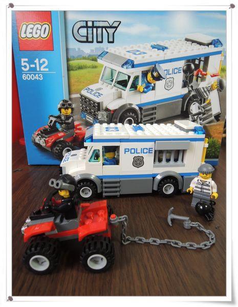 LEGO樂高CITY城市系列60043囚犯運輸車[恆宇八歲生日禮物]15