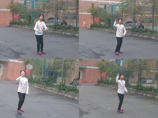 玩滑板車和打羽毛球@華夏科技大學2