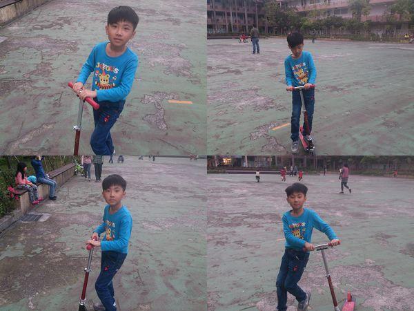 玩滑板車和打羽毛球@華夏科技大學3