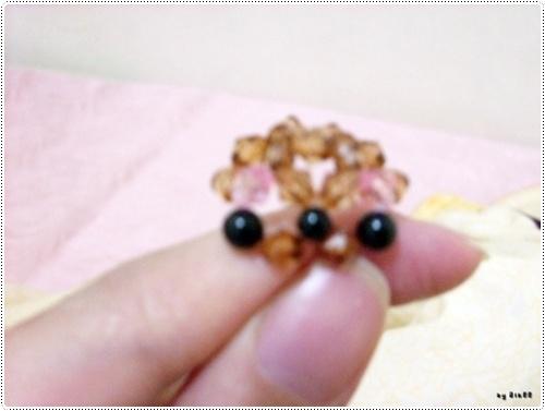 小熊手機吊飾串珠