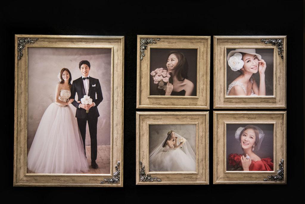 韓國對角花九件套含框木紋放大照