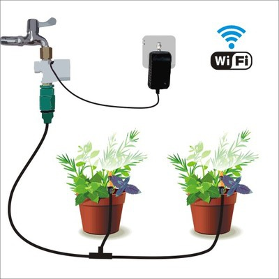 wifi 智能澆水示意圖