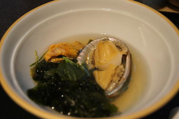 鮑魚海膽海帶湯