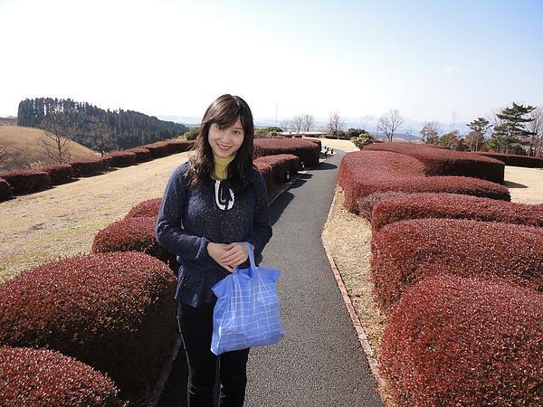 可以眺望瀨本高原的美麗庭園