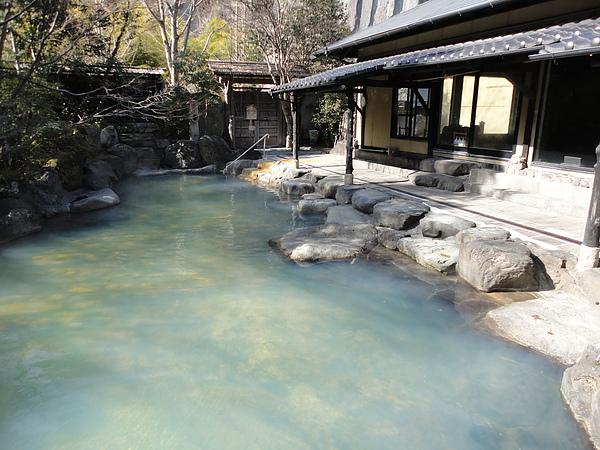 獨特的乳綠色溫泉水吸引眾多泡湯客來此朝聖