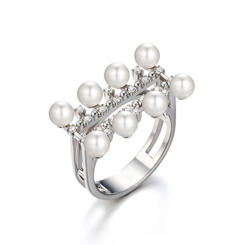 華麗八珠水鑽戒指 12號 (代購價: $5980)