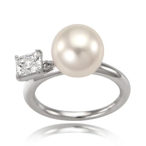 小方鑽大珍珠戒指 12號 (代購價: $3280)