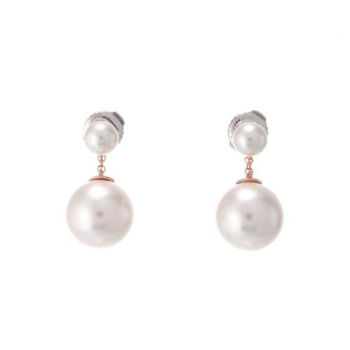 雙珍珠垂釣耳環 (代購價: $3680)