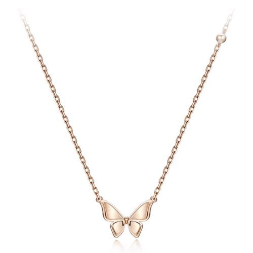 玫瑰金蝴蝶項鍊 代購價: $3680