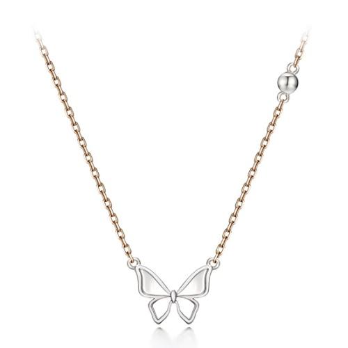 白K蝴蝶項鍊 代購價: $8880