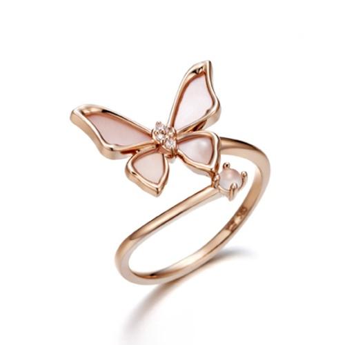玫瑰金蝴蝶戒指 (12號) 代購價$12080