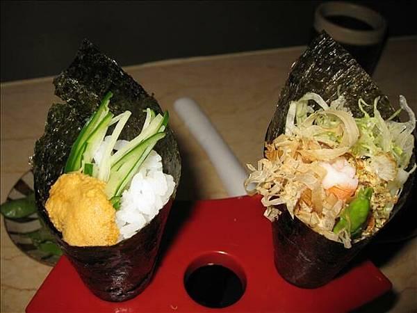 海膽手卷&蘆筍蝦手捲