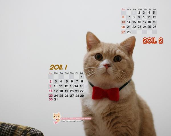 卡諾里2011年1月桌布(適合1280x1024)