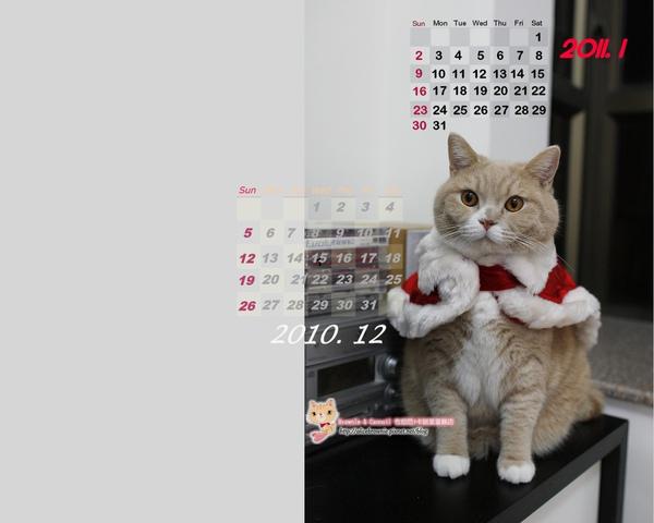 卡諾里2010年12月桌布(適合1280x1024)