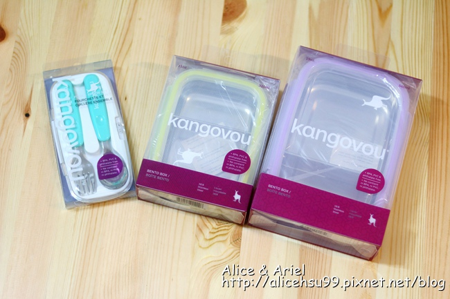 美國Kangovou 小袋鼠不銹鋼安全餐盒、寶寶餐盒、不鏽鋼湯叉組