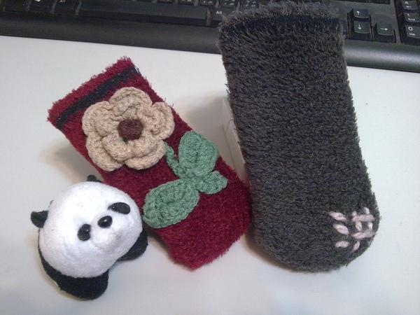 襪子手機套 2