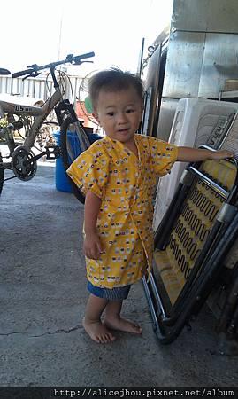 0707  媽媽做的浴衣-正面