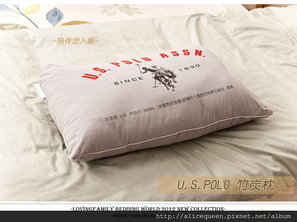 【U.S.POLO竹炭枕】美國馬球協會授權