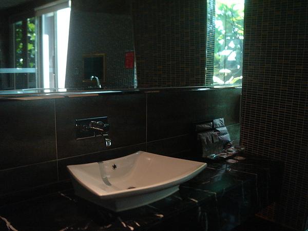 浴室很大,這是洗手台...
