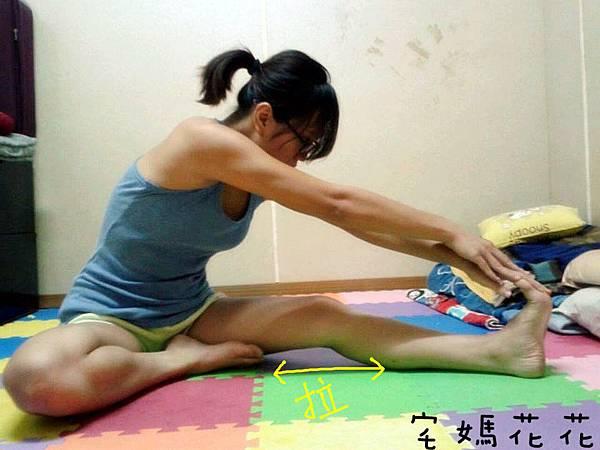 伸展腿後肌群