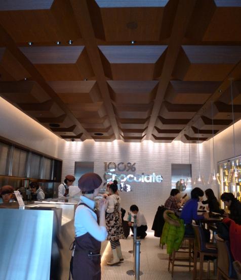 100% chocolate cafe-天花板.JPG