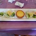 檸檬塔及水果+花果茶(熱)