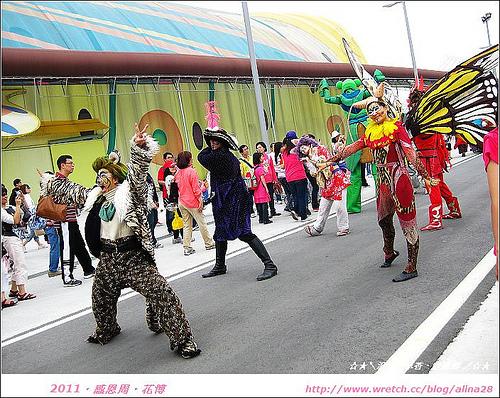 『台北』感恩周逛花博‧大佳河濱公園區‧毛毛蟲遊行