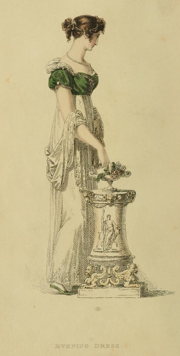 1814--1814 v11 Ackermann's fashion plate 16 - Evening Dress