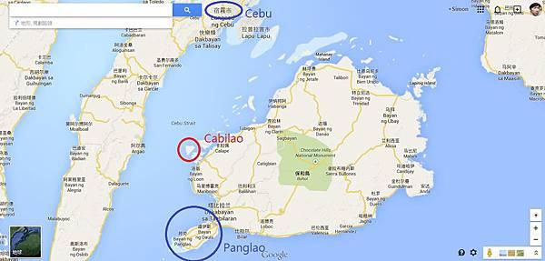 Cabilao Map