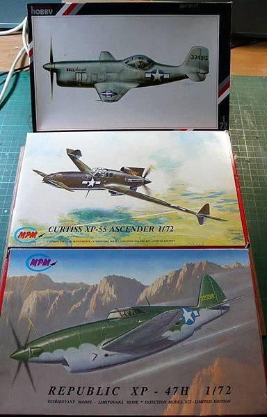XP-77 & XP-55 & XP-47-72-01