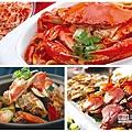 寒舍集團餐廳秋蟹上桌