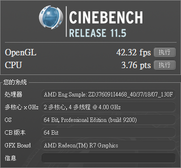 cinebench release 11.5