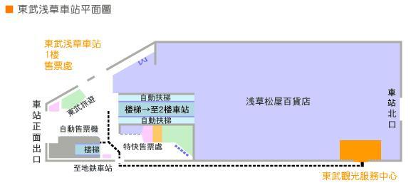 東武淺草車站平面圖