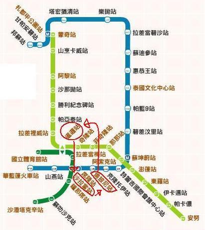 曼谷捷運圖-第一天.JPG