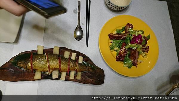 幹嘛餐酒館~西班牙料理x花東食材~蘋果香魚+豬肋排沙拉023