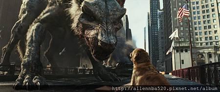 巨狼對小狗