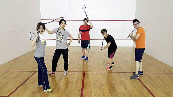 中和運動中心打壁球1