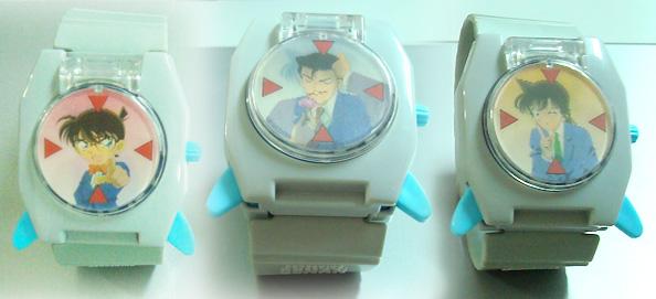 麥當勞的柯南玩具。手錶(可射出小飛盤)