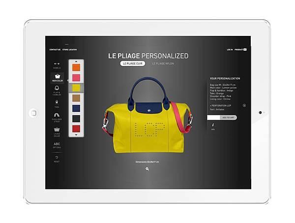 Longchamp Le Pliage Cuir Personalized 小羊皮摺疊包訂製 - 店上採平板電腦提供客人選色搭配