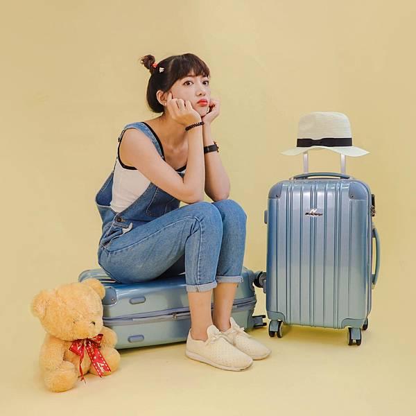行李箱,奧莉薇閣,行李箱推薦,旅行箱,國色天箱,奧莉薇閣行李箱寧靜藍-(1)
