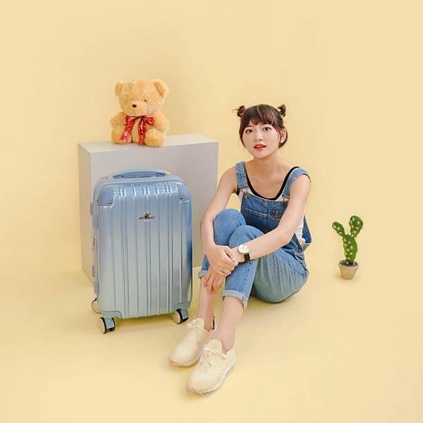 行李箱,奧莉薇閣,行李箱推薦,旅行箱,國色天箱,奧莉薇閣行李箱寧靜藍 (8)