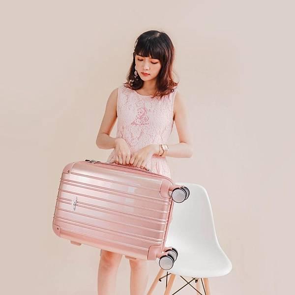 行李箱,奧莉薇閣,行李箱推薦,旅行箱,國色天箱,奧莉薇閣行李箱玫瑰金 (4)