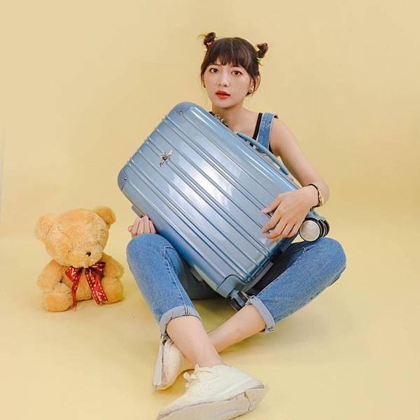 行李箱,奧莉薇閣,行李箱推薦,旅行箱,國色天箱,奧莉薇閣行李箱寧靜藍 (5)