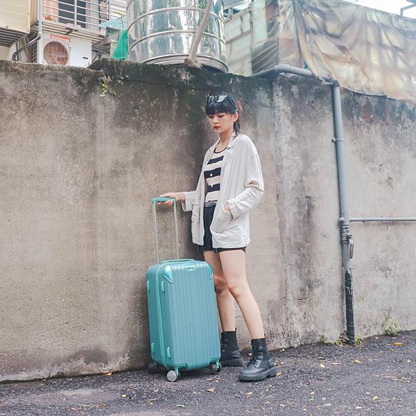 小胖箱推薦|23.5吋專為國內旅遊而生的行李箱湖水綠 (1)