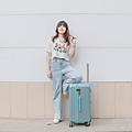 小胖箱推薦|23.5吋專為國內旅遊而生的行李箱湖水綠 (2)