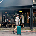 小胖箱推薦|23.5吋專為國內旅遊而生的行李箱孔雀綠 (9)