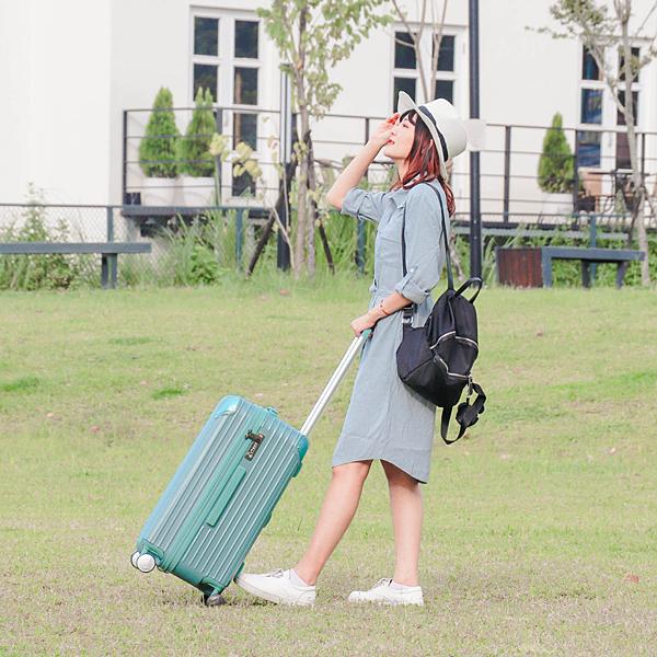 小胖箱推薦|23.5吋專為國內旅遊而生的行李箱湖水綠 (3)