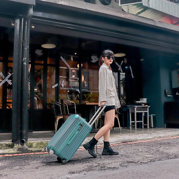 小胖箱推薦 23.5吋專為國內旅遊而生的行李箱湖水綠 (4)